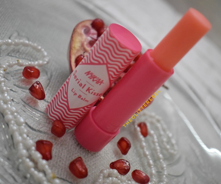 Nykaa Serial Kisser Lip Balm PomegranateReview